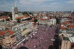 Фотогалерия: Посрещането на хърватските футболни герои