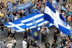 Фотогалерия: Протест в Солун срещу новото име на Македония