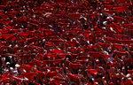 """Фотогалерия: Червено, твърде червено, """"Сан Фермин"""""""