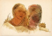 Димитър Казаков – Нерон, ранни рисунки