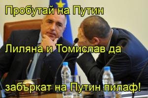 Пробутай на Путин Лиляна и Томислав да  забъркат на Путин пилаф!