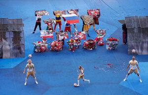 Фотогалерия: Пищното закриване на световното първенство в Русия