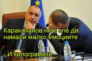 Каракачанов не е зле да намали малко емоциите . - И килограмите....