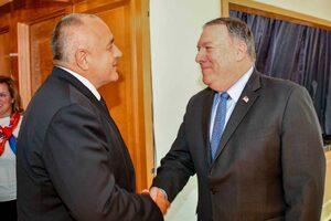 Препотвърждаваме стратегическото партньорство със САЩ, каза Борисов на Помпео