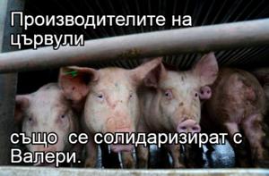 Производителите на цървули  също  се солидаризират с Валери.