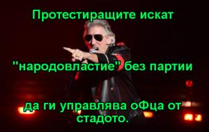 """Протестиращите искат """"народовластие"""" без партии да ги управлява оФца от стадото."""