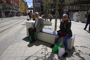 """Пейките по площад """"Славейков"""" пречат на минувачите, смята Фандъкова"""