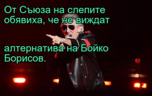 От Съюза на слепите обявиха, че не виждат  алтернатива на Бойко Борисов.