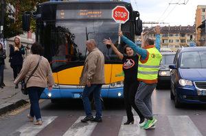 Настилка за намаляване на спирачния път ще пази пешеходците в София