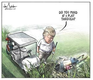 Заради карикатура на Тръмп канадски художник загуби работата си
