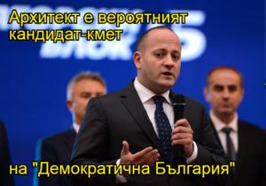 """Архитект е вероятният кандидат-кмет  на """"Демократична България"""""""