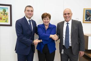 Снимка на деня: Първа среща с Кристалина Георгиева като директор на МВФ