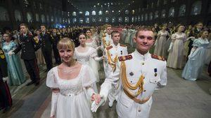 Фотогалерия: Блясъкът на кремълския кадетски бал