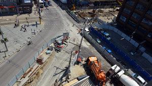 Снимка на деня: Едно кръстовище, два ремонта и строеж на метро