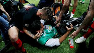 Фотографът, който видя твърде отблизо радостта на хърватските футболисти