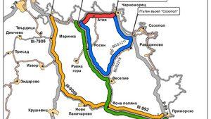 Пътят Бургас - Царево ще се затваря всяка вечер от днес до четвъртък