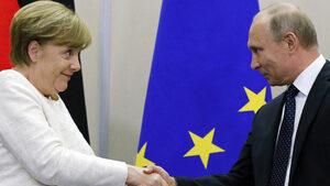 Путин ще разговаря с Меркел, след като остави неочакван подарък на сватба в Австрия