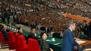 Гостът от Южна Корея донесе на Ким зрелищния театър, от който той се нуждаше