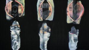 Монолитът като метафора за началото: изложба живопис на Елица Баръмова