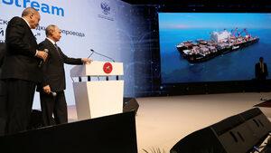 """Путин обяви края на първата част от подводното строителство на """"Турски поток"""""""