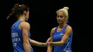 Сестри Стоеви започнаха със загуба във финалния мастърс в бадминтона