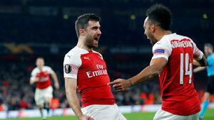 """""""Арсенал"""" и """"Челси"""" стигнаха осминафиналите в Лига Европа"""