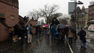 Парен локомотив в центъра на Франкфурт