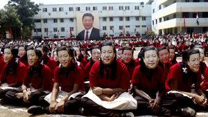 Снимка на деня: Поздрав от 2000 китайски президенти