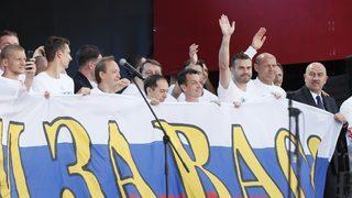 Снимка на деня: Хиляди благодариха на руските футболни герои в Москва