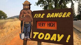 Видео: Гигантският пожар в Калифорния ще гори до края на месеца