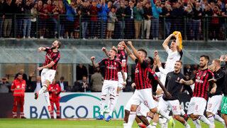 """""""<span class=""""highlight"""">Милан</span>"""" взе първа победа за сезона с гол в 95-ата минута срещу """"Рома"""""""