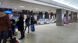 """На <span class=""""highlight"""">летище</span> София има проблем с таблата, които съобщават изходите за полетите"""
