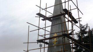 Ремонтират паметника на загиналите 1885