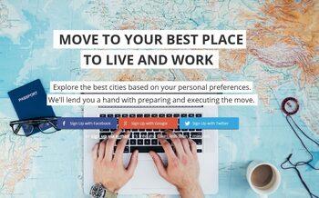 Приложението Teleport съветва потребителите си къде да се преместят да живеят