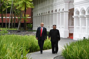 Тръмп каза, че с Ким Чен-Ун са се влюбили един в друг