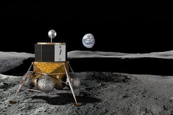 Компания на Джеф Безос и германци разработват голяма капсула за спускане на Луната