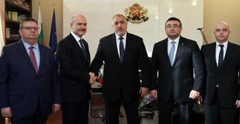 Борисов и министърът на вътрешните работи на Турция обсъдиха бъдещото сътрудничество