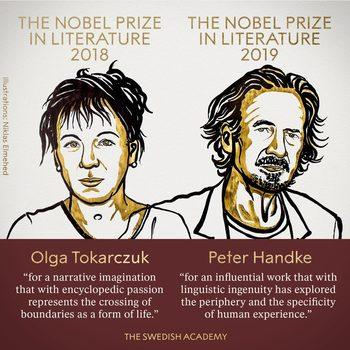 Олга Токарчук и Петер Хандке взеха двата Нобела за литература