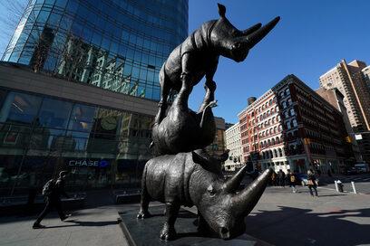 Снимка на деня: В памет на северния бял носорог