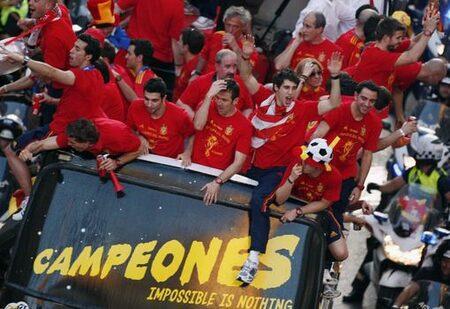 Фотогалерия: Посрещане на испанските национали в Мадрид