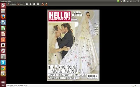 Кадър от корицата на британското издание на Hello!