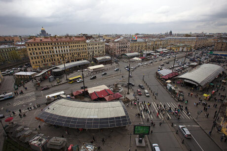 "Поглед отвисоко към площад ""Сенная"". Снимката е архивна. By Anton Vaganov - Own work, CC BY-SA 4.0, https://commons.wikimedia.org/w/index.php?curid=35760289"
