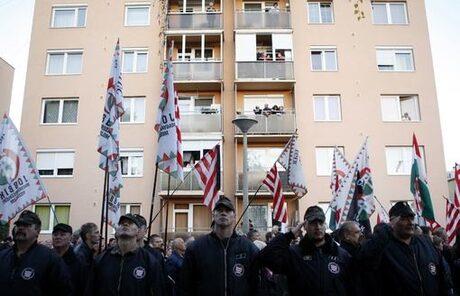 """Членове на националистическата партия """"Йобик"""" в Унгария"""