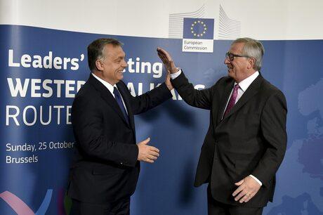 Виктор Орбан и Жан-Клод Юнкер