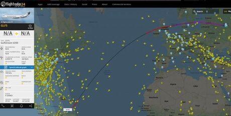 Данните за полета на частния тунрски самолет от Москва до Каракас, предизвикали масово обсъждане в социалните мрежи в Русия и проверка от журналистите.