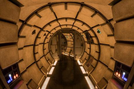 Част от Хилядолетния сокол в новия тематичен парк