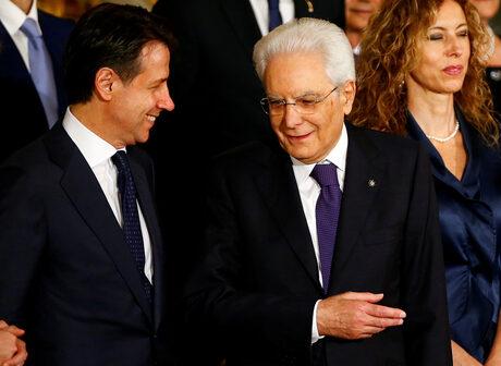 Джузепе Конте и Серджо Матарела