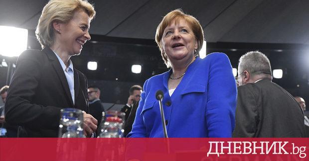 Германският министър на отбраната и номинирана за председател на Европейската