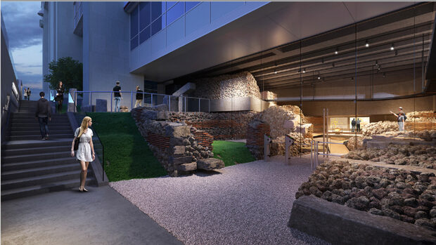 """Граждани ще имат достъп до средновековен храм под централата на """"Уникредит Булбанк"""""""