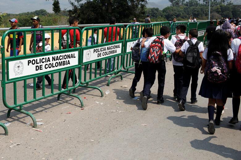 Деца се прибират в Кукута, Колумбия.